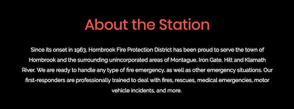 Hornbrook Fire